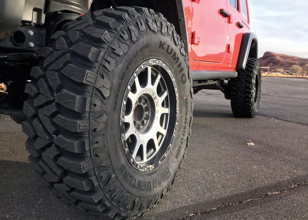 kumho road venture mt71 on red jeep
