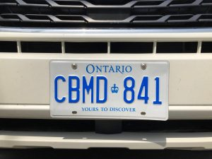 licence plates ontario